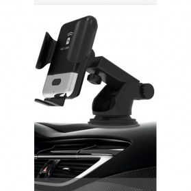 INIU Smartphone Car Holder with Qi Wireless Charger - IN08 - Black - 5