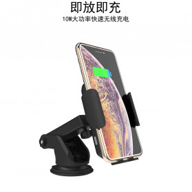 INIU Smartphone Car Holder with Qi Wireless Charger - IN08 - Black - 8