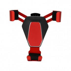 NANUM Car Holder Smartphone Triangle Metal Air Vent - JYT03 - Silver - 2