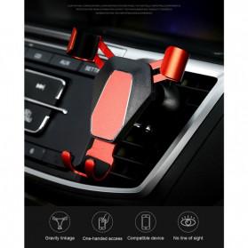 NANUM Car Holder Smartphone Triangle Metal Air Vent - JYT03 - Silver - 5