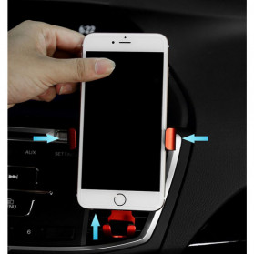 NANUM Car Holder Smartphone Triangle Metal Air Vent - JYT03 - Silver - 6