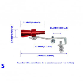 Banwinoto Penyiul Turbo Palsu Knalpot Mobil Whistler Exhaust Muffler Size S 17.3mm - TUR007 - Red