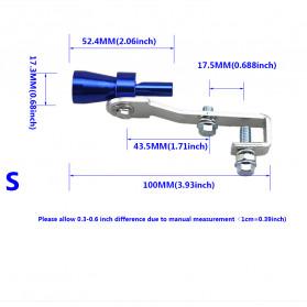 Banwinoto Penyiul Turbo Palsu Knalpot Mobil Whistler Exhaust Muffler Size S 17.3mm - TUR007 - Blue