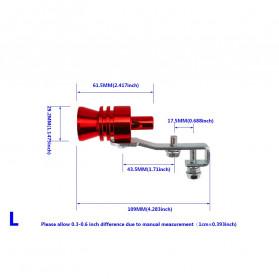 OTOHEROES Penyiul Turbo Palsu Knalpot Mobil Whistler Exhaust Muffler Size L 29.2mm - TUR007 - Red
