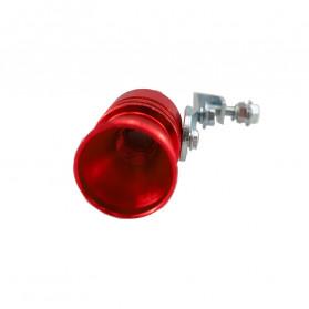 OTOHEROES Penyiul Turbo Palsu Knalpot Mobil Whistler Exhaust Muffler Size L 29.2mm - TUR007 - Red - 6