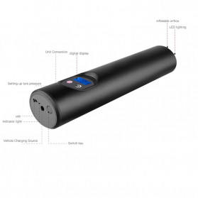 Auzoe Inflator Pompa Angin Ban Mobil Rechargeable Tire Pump 150 PSI  - P007 - Black - 3
