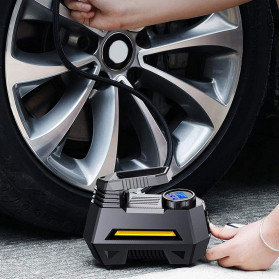 RUNDONG Inflator Pompa Angin Ban Mobil Portable Tire Pump 150 PSI  - CZK-3631 - Black - 5