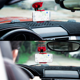 Phpane Magnetic Car Holder Smartphone Suction Cup 360 Degree - ZZ-003 - Black - 2