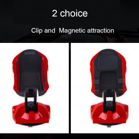 Phpane Magnetic Car Holder Smartphone Suction Cup 360 Degree - ZZ-003 - Black - 3