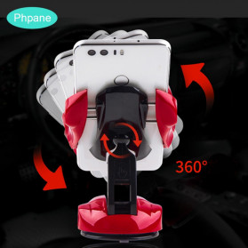 Phpane Magnetic Car Holder Smartphone Suction Cup 360 Degree - ZZ-003 - Black - 8