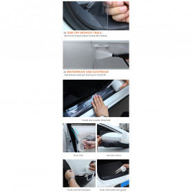 SEAMETAL Stiker Pelindung Mobil Car Scratchproof Protector Tape 50MM x 3M - C39906 - Transparent - 7