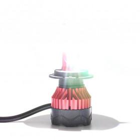 HAOSJ Lampu Mobil LED ZES Headlight 12000LM 55W 6000K H7 12V 2 PCS - K5 - Red - 2