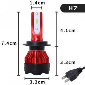 HAOSJ Lampu Mobil LED ZES Headlight 12000LM 55W 6000K H7 12V 2 PCS - K5 - Red - 7