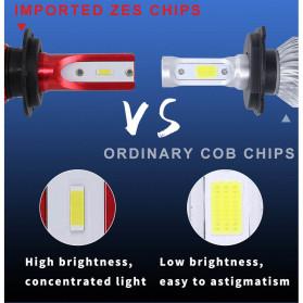HAOSJ Lampu Mobil LED ZES Headlight 12000LM 55W 6000K H7 12V 2 PCS - K5 - Red - 9