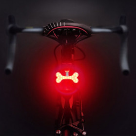 Zacro Lampu Sepeda Tail Light LED Bicycle Bone USB Charging - ZHA0097 - Black