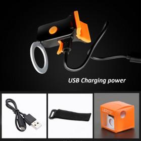 Zacro Lampu Sepeda Tail Light LED Bicycle Bone USB Charging - ZHA0097 - Black - 3