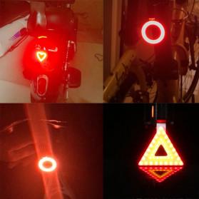 Zacro Lampu Sepeda Tail Light LED Bicycle Bone USB Charging - ZHA0097 - Black - 4