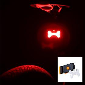 Zacro Lampu Sepeda Tail Light LED Bicycle Bone USB Charging - ZHA0097 - Black - 5