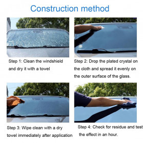 DPRO Car Window Windshield Premium Protective Paint Coating Hydrophobic Liquid 20ml - DF-401 - Black - 3