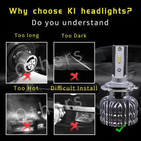 HAOSJ Lampu Mobil Headlight LED H4 CSP - K1 - Silver - 7