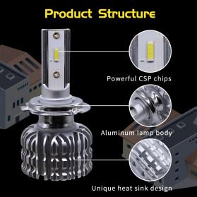 HAOSJ Lampu Mobil Headlight LED H7 CSP - K1 - Silver - 3