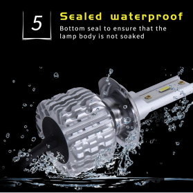 HAOSJ Lampu Mobil Headlight LED H7 CSP - K1 - Silver - 6