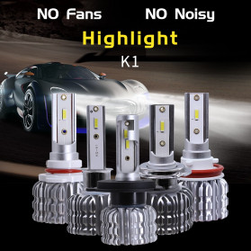HAOSJ Lampu Mobil Headlight LED H11 CSP - K1 - Silver - 2