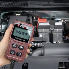 VANINX Alat OBD2 Pembaca Kode Diagnostik Mobil Otomotif Car Engine Scanner Tool - IN101 - Brown