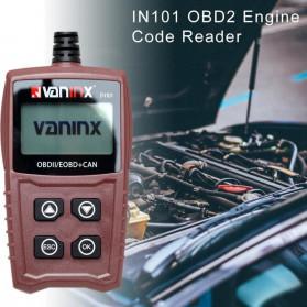 VANINX Alat OBD2 Pembaca Kode Diagnostik Mobil Otomotif Car Engine Scanner Tool - IN101 - Brown - 2