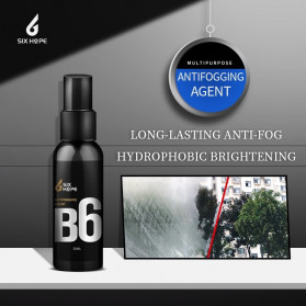 Six Hope Car Windshield Coating Hydrophobic Liquid Anti Fogging Agent Spray 50ml - B6 - Black - 7