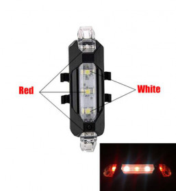 ROBESBON Lampu Belakang Sepeda USB Rechargeable Rear Tail Bike Portable Light Lamp - DC-918 - Red/White