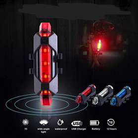 ROBESBON Lampu Belakang Sepeda USB Rechargeable Rear Tail Bike Portable Light Lamp - DC-918 - Mix Color - 2
