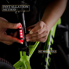 ROBESBON Lampu Belakang Sepeda USB Rechargeable Rear Tail Bike Portable Light Lamp - DC-918 - Mix Color - 4
