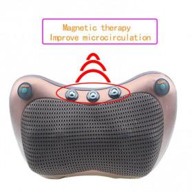 Almohada Bantal Pijat Shiatsu Heat Neck Massage Pillow 8 Head 2 Button + 3 Magnet - CHM-8028 - Brown - 5