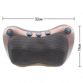Almohada Bantal Pijat Shiatsu Heat Neck Massage Pillow 8 Head 2 Button + 3 Magnet - CHM-8028 - Brown - 6