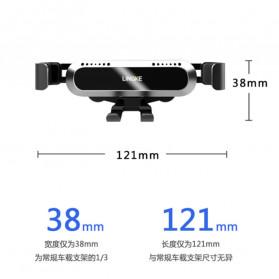 Lingke Smartphone Car Holder Mobil Air Vent - GC14 - Black - 2