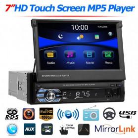 VODOOL Tape Audio Mobil MP5 Media Player Monitor LCD 7 Inch FM Radio Bluetooth 4.0 - SMW9601 - Black - 2