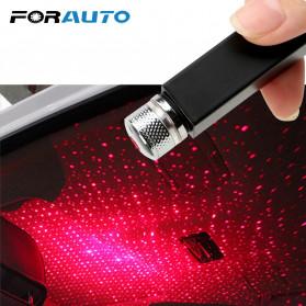 FORAUTO Lampu LED Proyektor Dekorasi Interior Mobil USB Motif Bintang Star - 19096 - Black