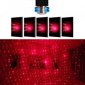 FORAUTO Lampu LED Proyektor Dekorasi Interior Mobil USB Motif Bintang Star - 19096 - Black - 3
