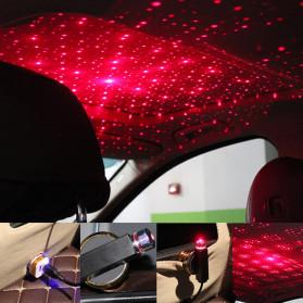 FORAUTO Lampu LED Proyektor Dekorasi Interior Mobil USB Motif Bintang Star - 19096 - Black - 4