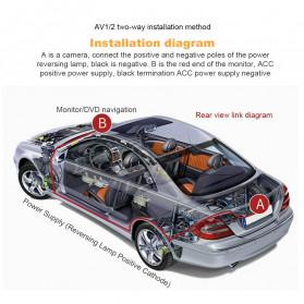 AUTONET Monitor Parkir Mobil Foldable Rear View TFT LCD 4.3 Inch - AU43 - Black - 10