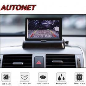 AUTONET Monitor Parkir Mobil Foldable Rear View TFT LCD 4.3 Inch - AU43 - Black - 2