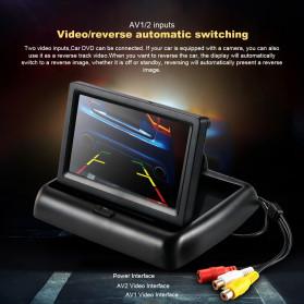 AUTONET Monitor Parkir Mobil Foldable Rear View TFT LCD 4.3 Inch - AU43 - Black - 9