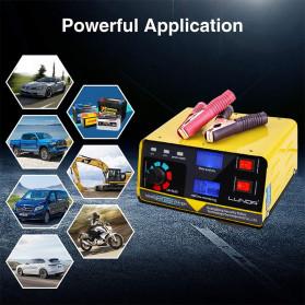 KualDun Charger Aki Mobil Motor 260W 12V/24V 400AH with LCD - KD-908D - Yellow - 3