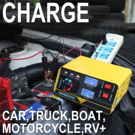KualDun Charger Aki Mobil Motor 260W 12V/24V 400AH with LCD - KD-908D - Yellow - 6