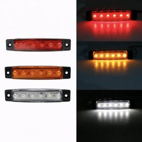 Bakuis Lampu Rambu Truck Mobil LED Marker Indicator Light 24V 10PCS - Y-S21 - Red - 5