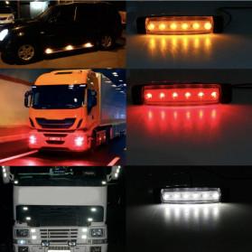 Bakuis Lampu Rambu Truck Mobil LED Marker Indicator Light 12V 10PCS - Y-S21 - Yellow - 6
