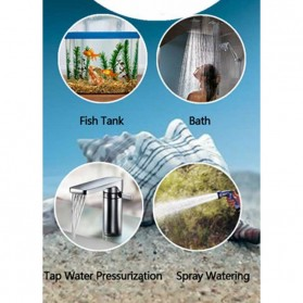 Shell Pompa Air High Pressure Diaphragm Pump Car Washing Water - HZLZ-4451 - Transparent - 4