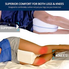 Beautrip Bantal Tidur Kaki Memory Foam for Back Hip Legs & Knee Support Wedge  - G90531 - White - 2