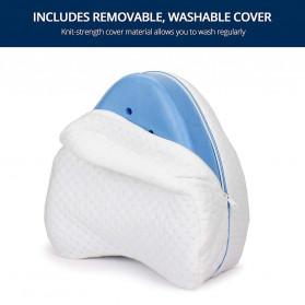 Beautrip Bantal Tidur Kaki Memory Foam for Back Hip Legs & Knee Support Wedge  - G90531 - White - 3